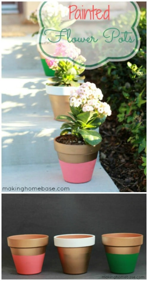 Easy Hand Painted Flower Pots