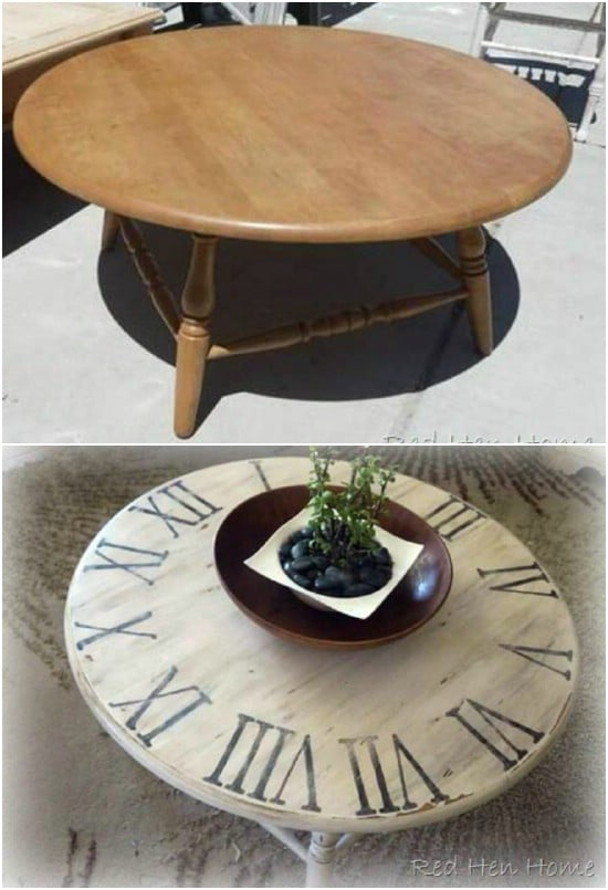 Gorgeous Pottery Barn Knockoff Clock Table