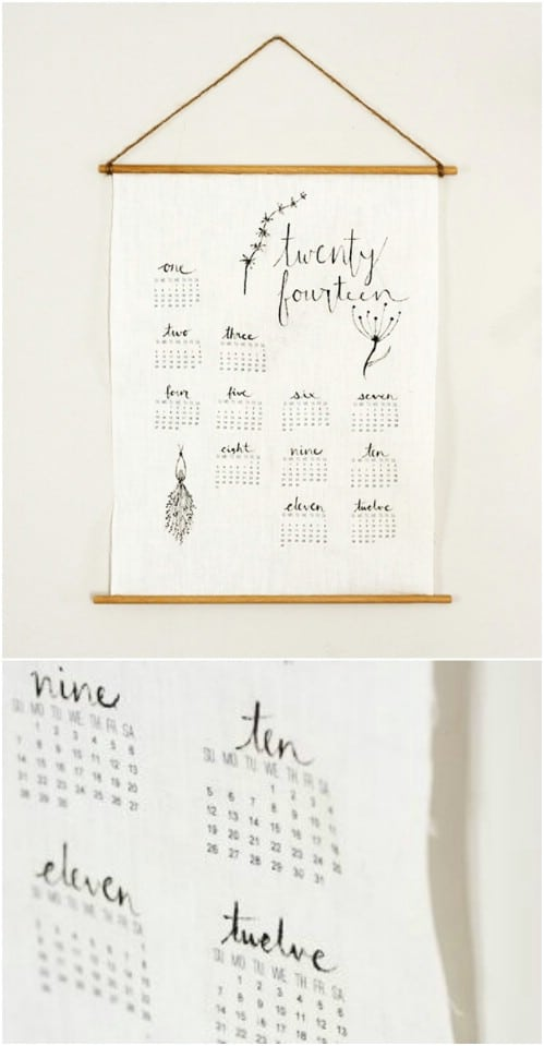 Diy Old Calendar : Diy calendars and planners to start off the new year