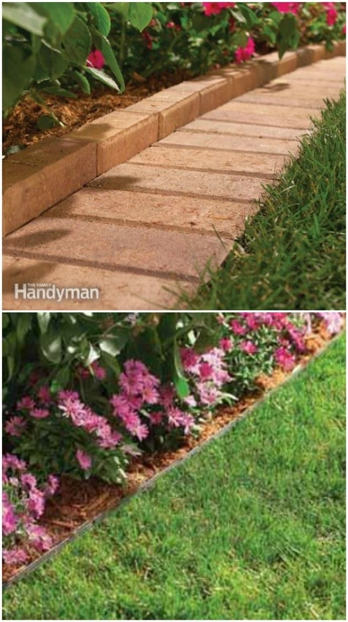 17 diy garden edging ideas that bring style and beauty to for Cheap diy garden edging