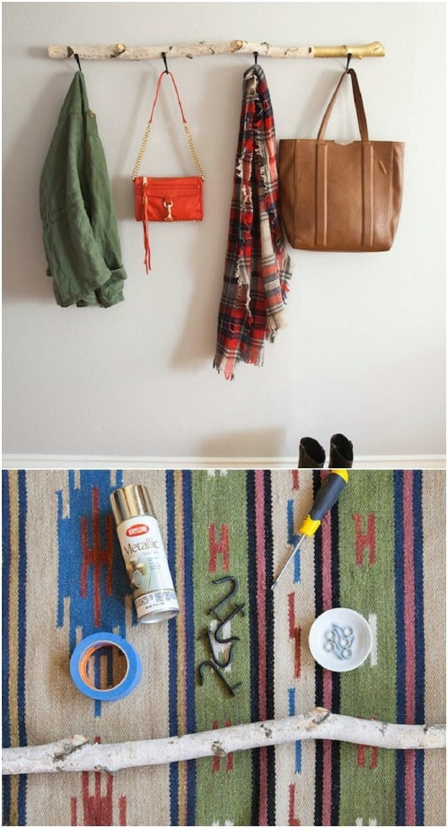 13 creative diy coat rack ideas style motivation for Creative ideas for coat racks