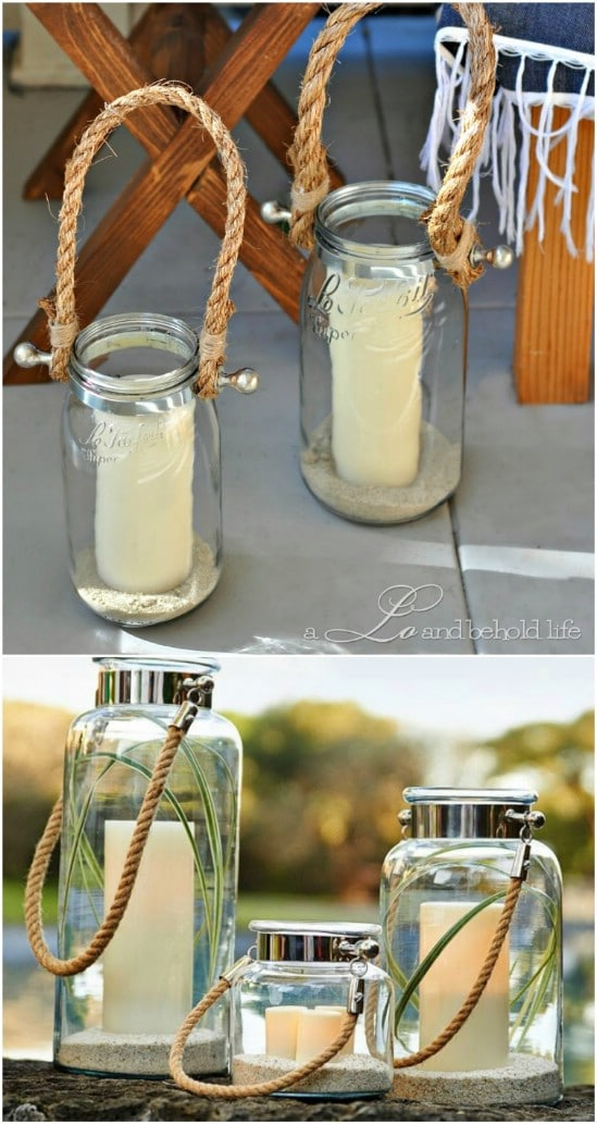 Pottery Barn DIY Hyannis Lanterns