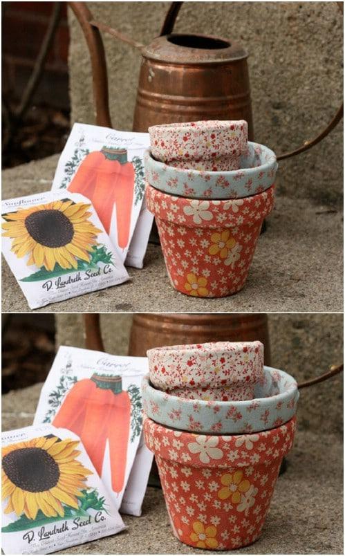 Hand Painted Terra Cotta Pots