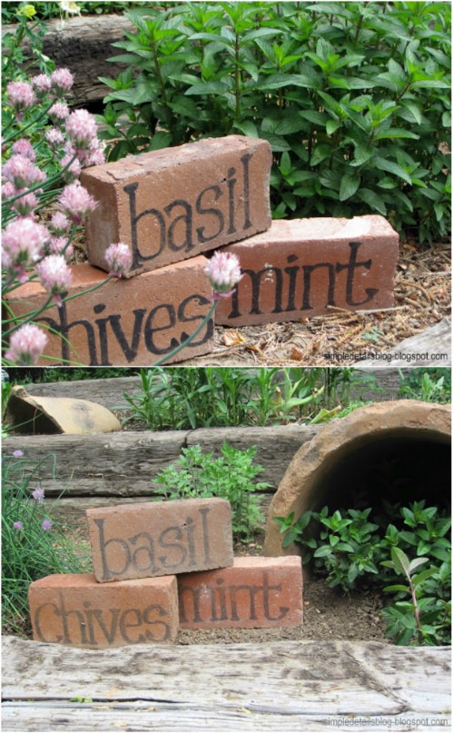 Simple DIY Brick Markers