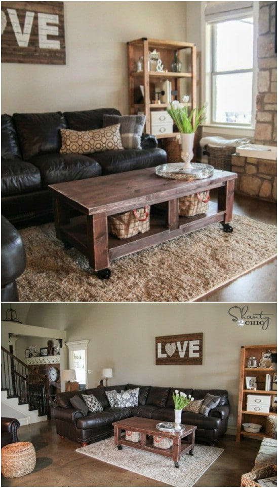 $40 Pottery Barn Knockoff Farmhouse Coffee Table