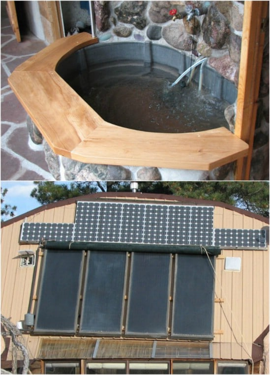 DIY Solar Hot Tub With Fountain