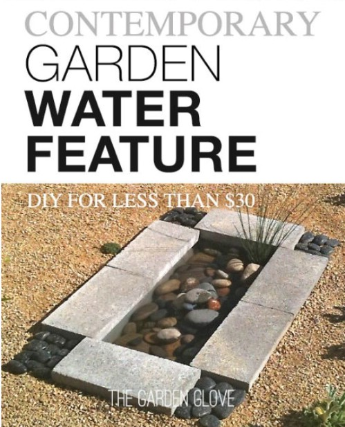 Repurposed Plastic Storage Tote Garden Pond
