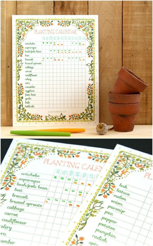 DIY Planting Calendar