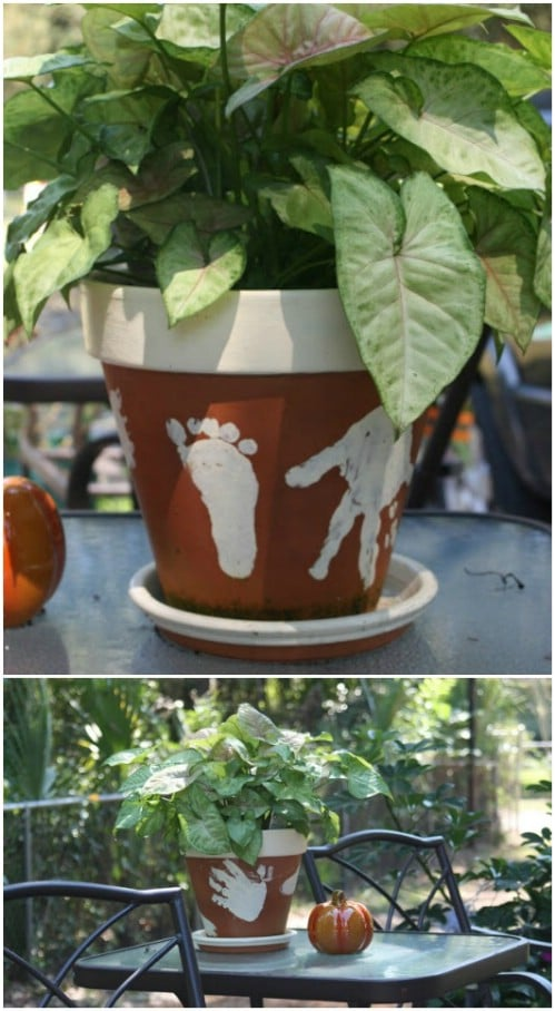 Adorable Handprint Flower Pots