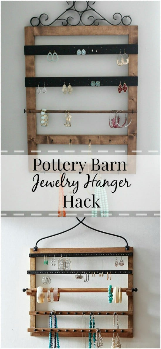 Rustic DIY Jewelry Hanger