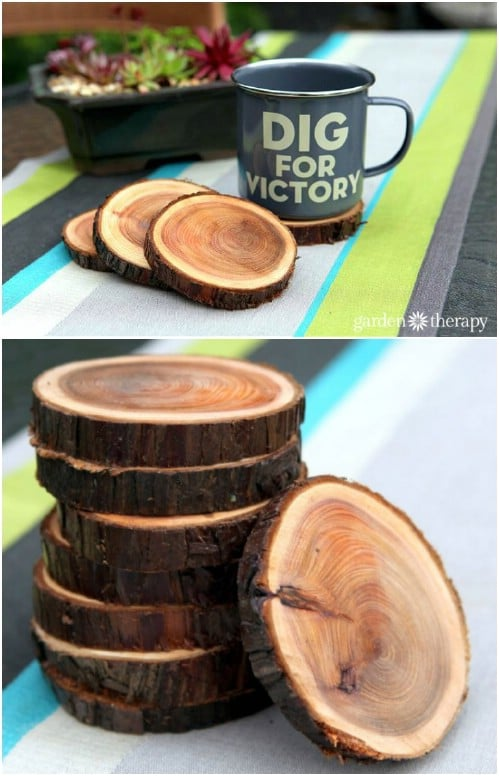 Easy DIY Natural Coasters