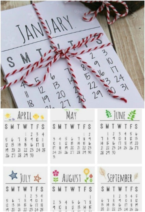 Diy Year Calendar : Diy calendars and planners to start off the new year