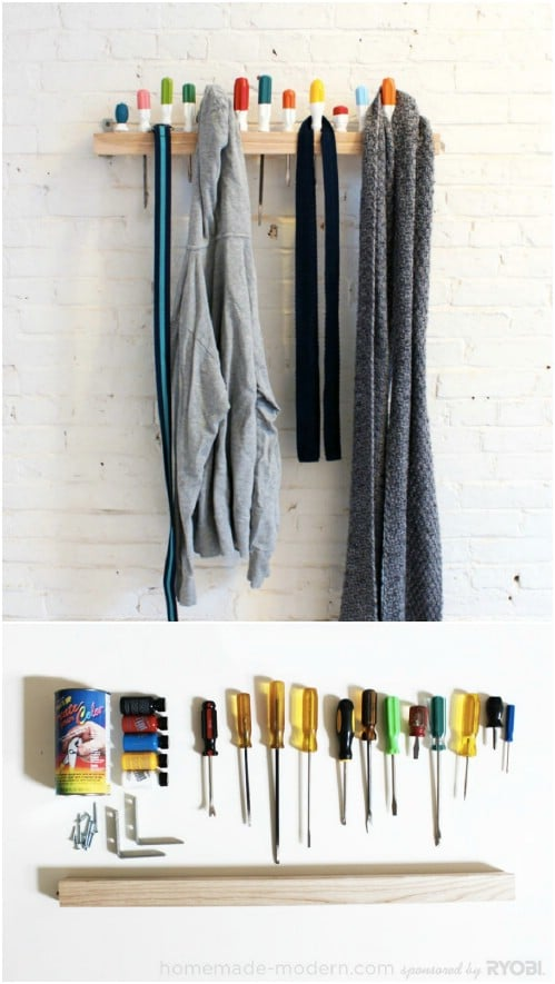 13 Creative DIY Coat Rack Ideas