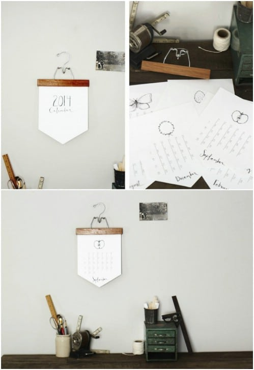 Diy Calendar Hanger : Diy calendars and planners to start off the new year