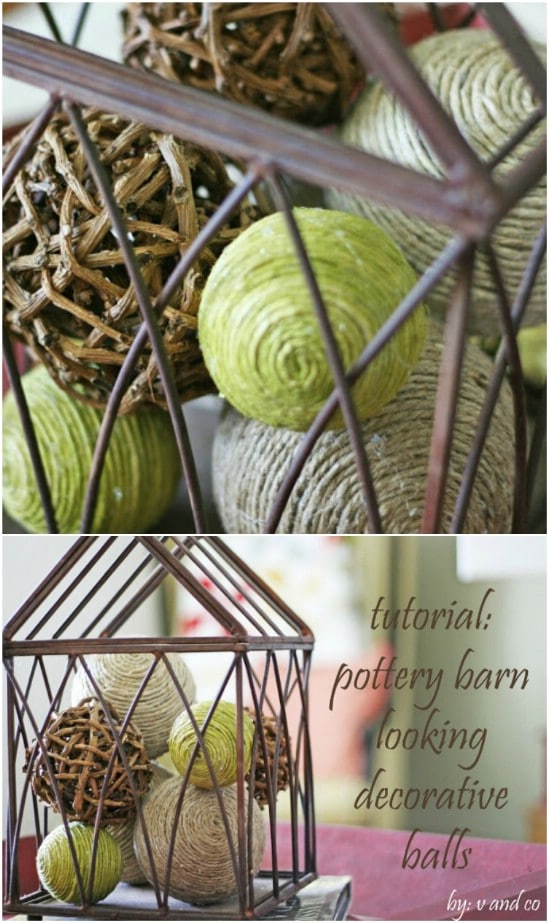 DIY Pottery Barn Decorative Balls