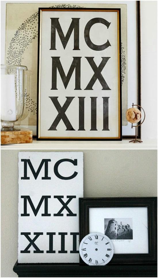 DIY Roman Numeral Art