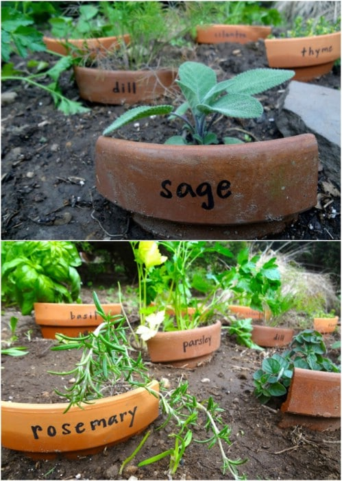 Upcycled Terra Cotta Pot Markers