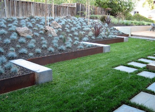 Mixed Material Garden Edging