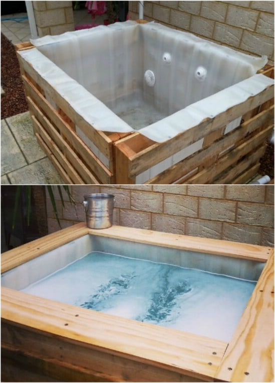 DIY Upcycled Pallet Hot Tub