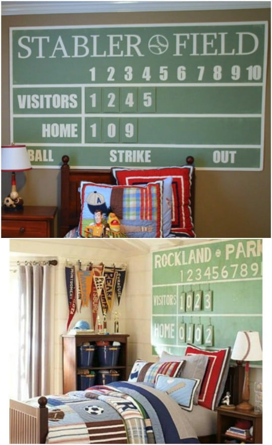 Pottery Barn Kids Inspired DIY Scoreboard