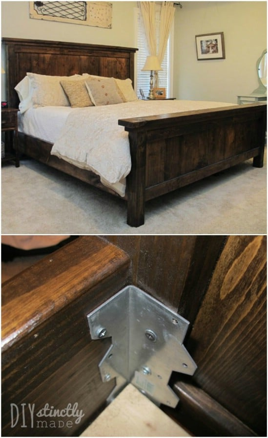 DIY Wooden Sleigh Bed