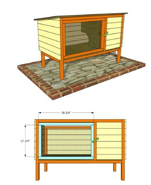 Simple DIY Wooden Rabbit Hutch