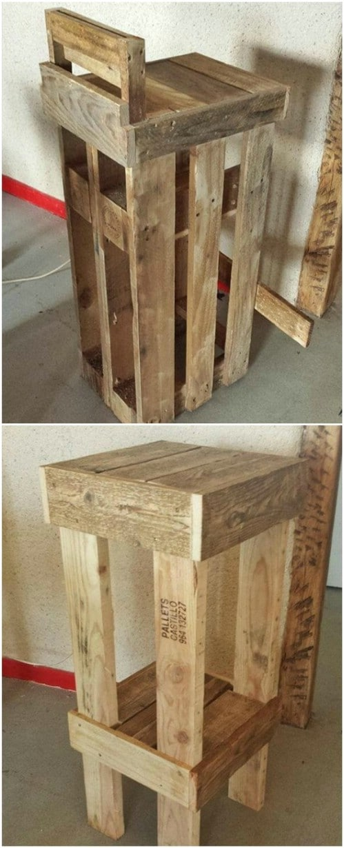 DIY Repurposed Pallet Stools Build Your Own Bar Stools C27