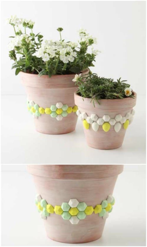DIY Faceted Gem Planters