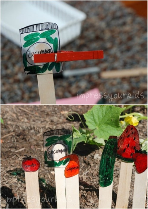 DIY Shrinky Dink Garden Markers