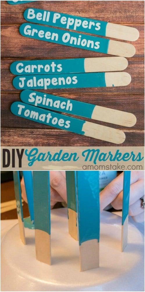 Easy DIY Popsicle Stick Garden Markers