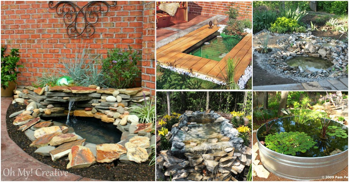 15 budget friendly diy garden ponds you can make this for Large outdoor fish ponds