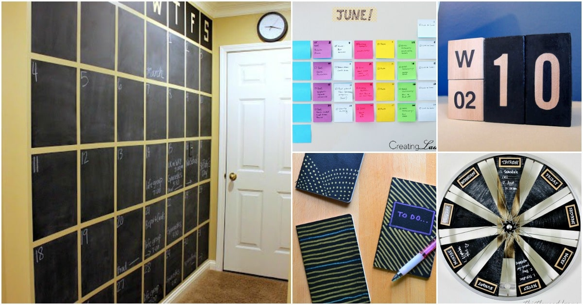 25 diy calendars and planners to start off the new year organized