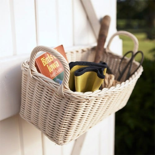 Easy Wicker Basket Storage