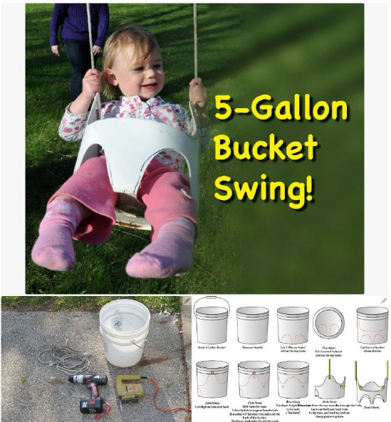 Repurposed Bucket Swing