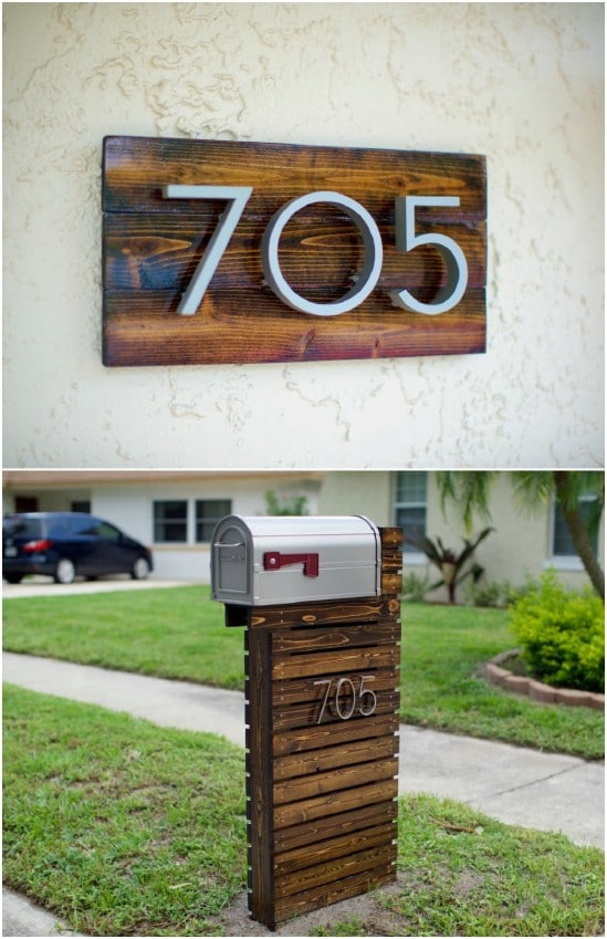 15 amazingly easy diy mailboxes that will improve your curb appeal diy modern mailbox solutioingenieria Choice Image