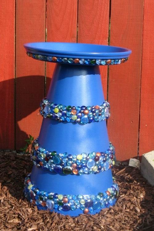 DIY Decorative Stone Bird Bath