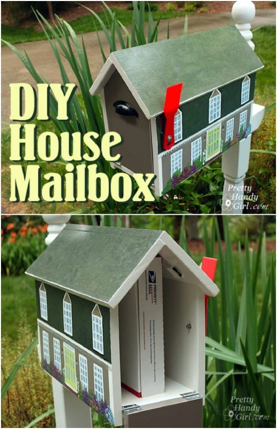 DIY Painted House Mailbox