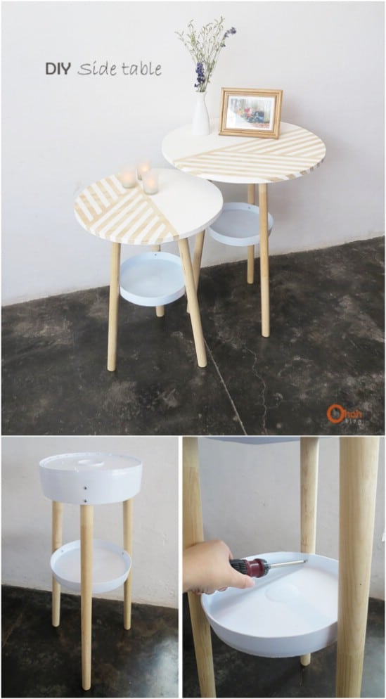 Upcycled Bucket Side Tables