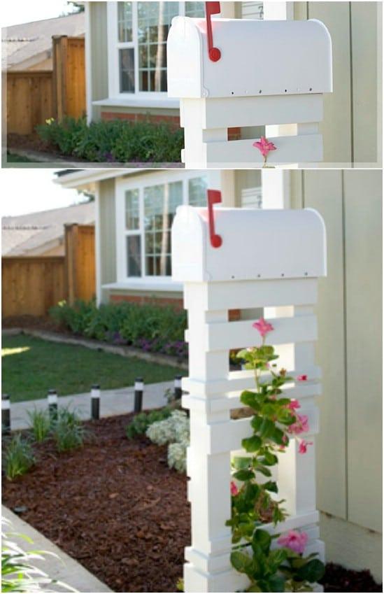DIY Trellis Mailbox