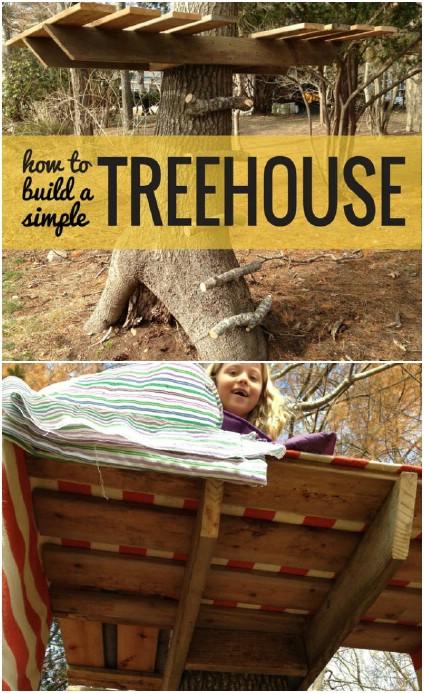 Simple DIY Treehouse