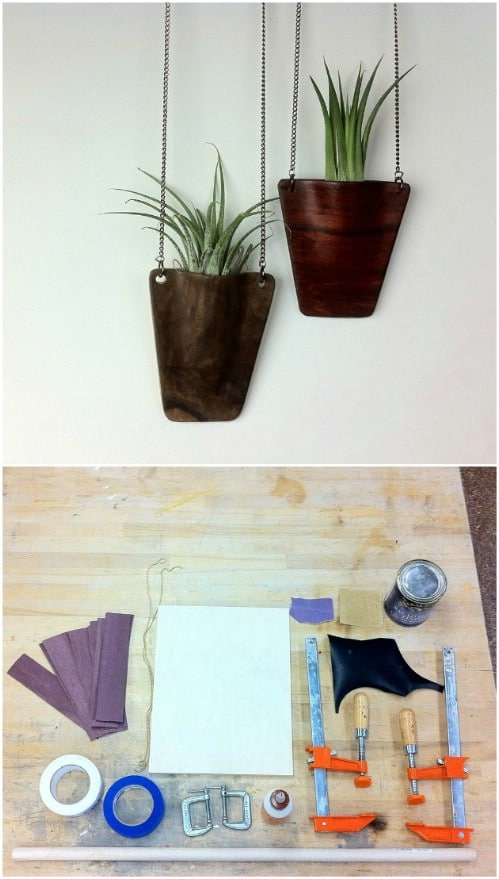 DIY Wooden Pendant Hanging Planter