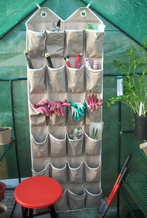 Repurposed Shoe Organizer
