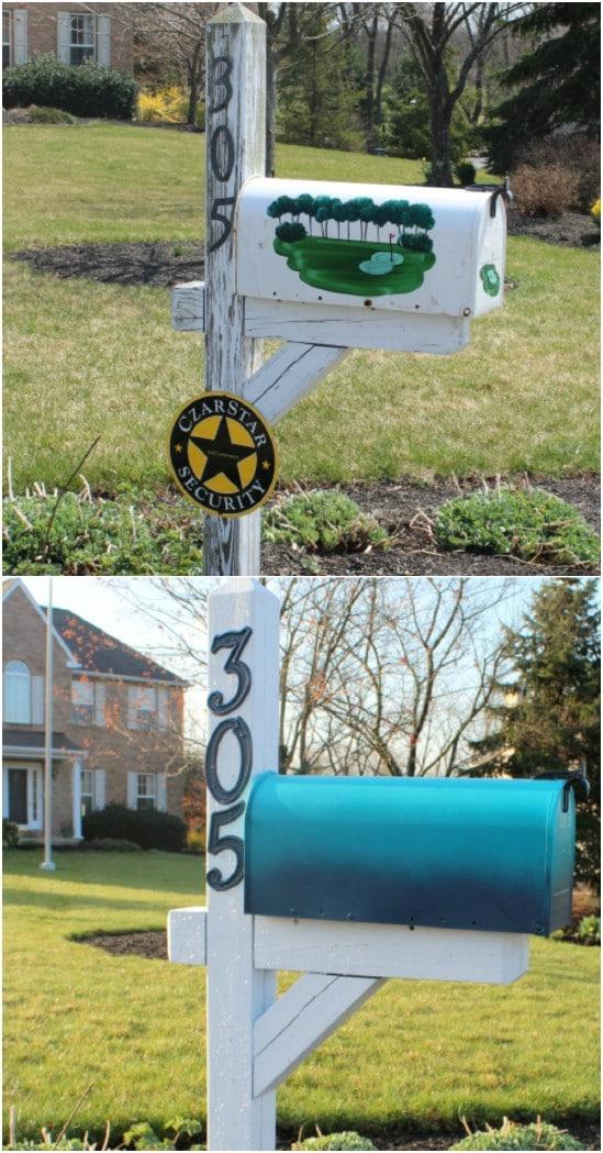 DIY Ombre Mailbox