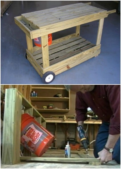 DIY Portable Potting Bench