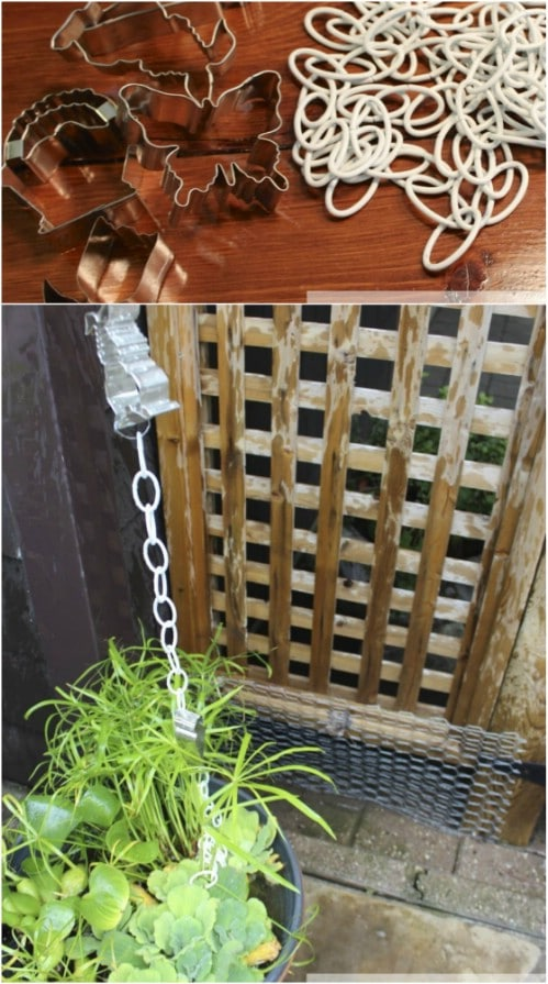 DIY Cookie Cutter Rain Chain