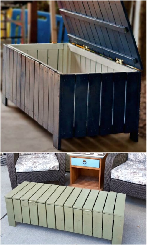Easy DIY Outdoor Storage Bench