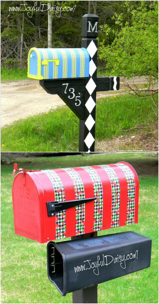 DIY Duct Tape Mailbox Makeover