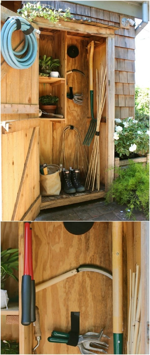 Simple DIY Garden Tool Storage