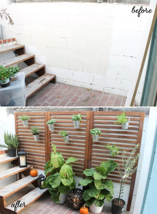 Repurposed Wooden Panel DIY Climbing Garden