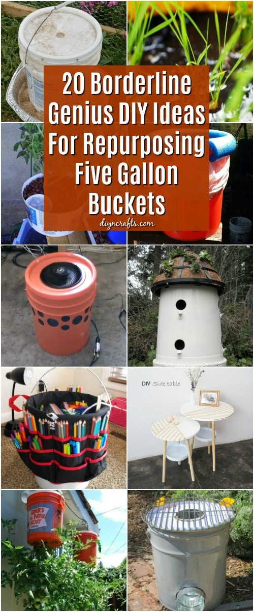 20 Borderline Genius DIY Ideas For Repurposing Five Gallon ...